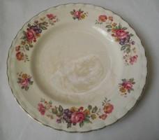 Aranyozott,rózsás angol antik tányér (J&G Meakin)