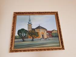 Tóth Lajos kárpátaljai festőművész ( 1948-2006 ): Templom.