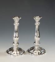 Ezüst antik bécsi gyertyatartópár