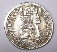 Lipót XV krajcár 1680 KB