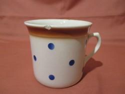 Nagy kék pöttyös Gránit bögre, csupor, csésze
