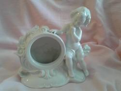 Gräfenthal fehér porcelán kandalló óra tok  (óraszerkezet nélkül)
