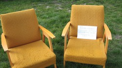 Retró fotel, favázas, kárpitos