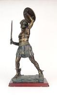 0O809 Gladiátor szobor talapzaton 45 cm