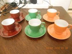 Hollóházi porcelán kávés készlet.