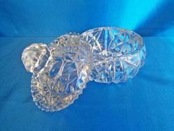 Nagyon szép kristály / üveg cukortartó bonbonier