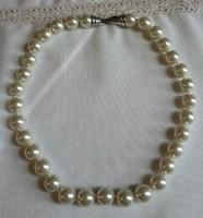 Fehér gyöngysor nyaklánc /ingyenes postával/