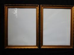 ANTIK RÉGI KÉP KERETEZÉSÉHEZ KÉPKERET KERET PÁROS + ÜVEG M: 45 X 35 cm FÉSZEK 39,50 X 30 cm