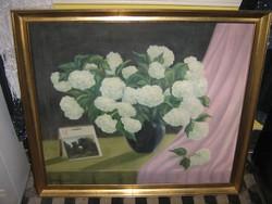 Váraljai 1967 nagyméretű festmény 80 cm x 88 cm olaj vászon
