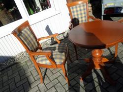Bidermaier étkezőasztal 4 karos székkel