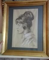 Foujita Tsuguji. Francia hölgy (Egytized áron!!)