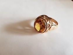 Gyönyörű fazettált köves 14K  arany gyűrű