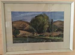 Kengyel Zoltán képcsarnokos alkotása akvarell, papír 72 X 52,5 cm