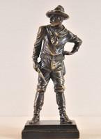 Carl Kauba, T. Curts (Austria, 1895-1929): Cowboy, bronz szobor