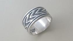 Ezüst tömör vastag, masszív karikagyűrű. Mexikó 925