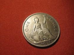 One  Penny 1938  30mm  ,szép bronz