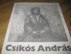 Csikós András  festőművész kiállítása  Szentendre 1979