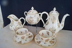 Zsolnay antik családjeles páros teás készlet