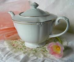 Régi nagyméretű Drasche porcelán teás, kávés kiöntő, kancsó, kanna