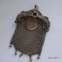 Szecesszió ezüst pénztárca