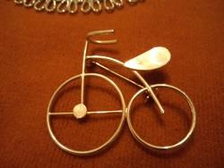 Elegáns, aranyozott -Kerékpár bross