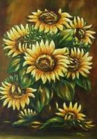Napraforgók olaj festmény
