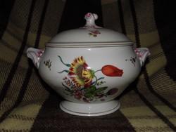 Ó-herendi Fischer Mór antik porcelán leveses tál 1870-es évekből ritka herendi RRR!