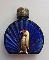 Cseppentős parfümös üveg réz tetővel