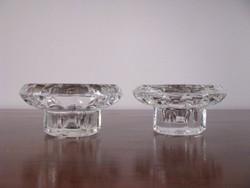 2 db kristályüveg gyertyatartó