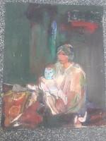 Mészáros Géza -Anya gyermekével -hatalmas-