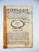 1862 június 19  /  Gyermekbarát  /  RÉGI ÚJSÁG Ssz.: 531