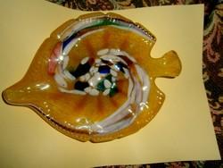 Muránoi  üveg  tál különleges alakú