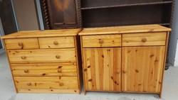 Eladó 2db komód fenyő fából. Bútor jó állapotúak. Fiókok szépen gurulnak. Méretei egyformák : 82cm x