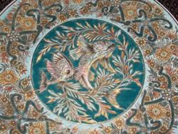 Nagyméretű Zsolnay falitányér