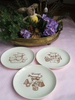 Antik  francia sajtos tányérok