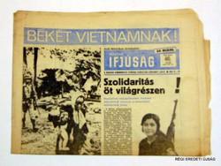 1969 november 14  /  MAGYAR IFJÚSÁG  /  RÉGI EREDETI MAGYAR ÚJSÁG Szs.:  4282