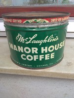 Retro Mc'Laughlin's Manor House Coffee fém doboz