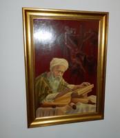 HÚSVÉTI AKCIÓ !!!! Jézus levétele a keresztről - Biblia részlet - csodás jelzett olajfestmény
