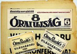 1937 március 5  /  8 ÓRAI ÚJSÁG  /  SZÜLETÉSNAPRA RÉGI EREDETI MAGYAR ÚJSÁG Szs.:  4172