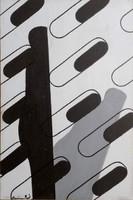 Deim Pál - Árnyék variáció 30 x 20 cm akril, vásznazott lemez