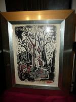 Régi expresszionista festmény Molnár Bélától hibátlan állapotban