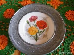 Gyönyörű Ón - porcelán falidísz, 24 cm