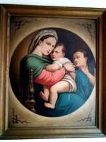 Széken ülő Madonna - Nyulassy Lajos műve