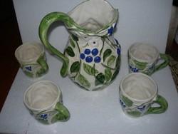 Boroskancsó 4 pohárral