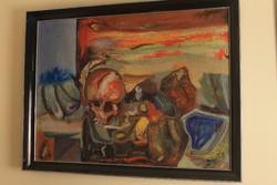 Dohányzó koponya (festmény)