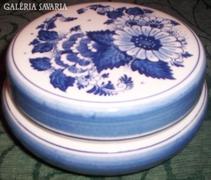 DELFT, kézzel festett, porcelán bonbonier