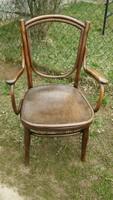 Antik nagyon ritka thonet stílusú karos szék diszkrét szobawc - szobai wc