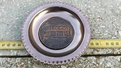 Zalakaros bronz tányér emléktárgy