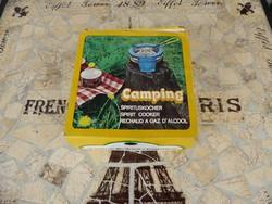 Retro Camping Denaturált szesz üzemű föző, Kemping Föző,