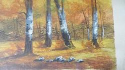Régi  festmény ,tájkép ,szép keretben